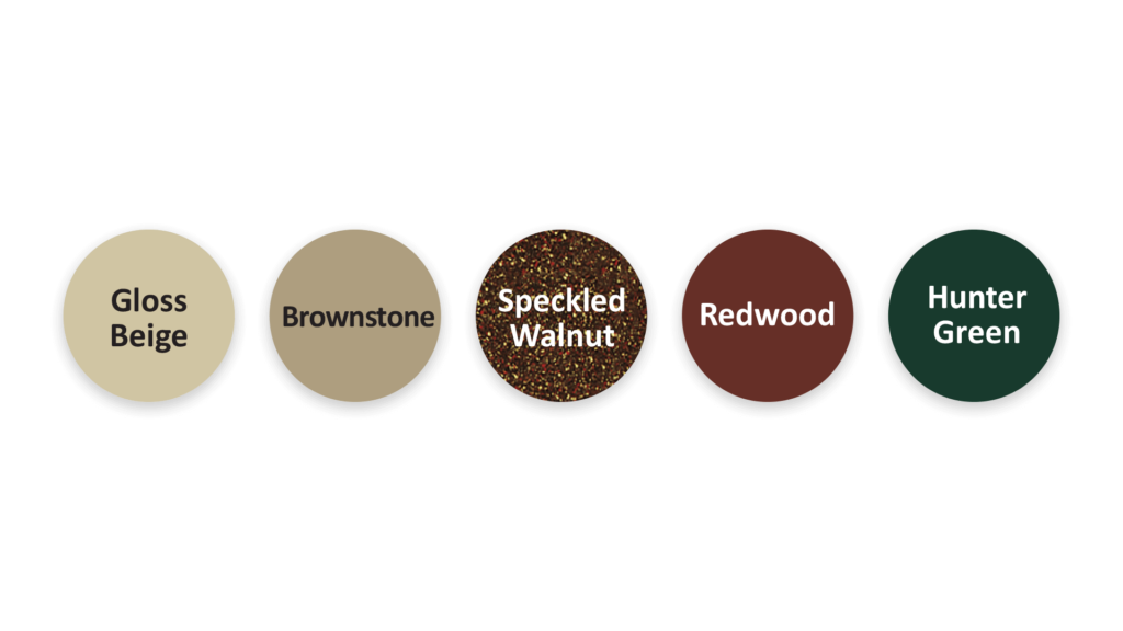 Placid Point Lighting - Outdoor LED Lighting - Color Options - Gloss Beige - Brownstone - Speckled Walnut - Redwood - Hunter Green