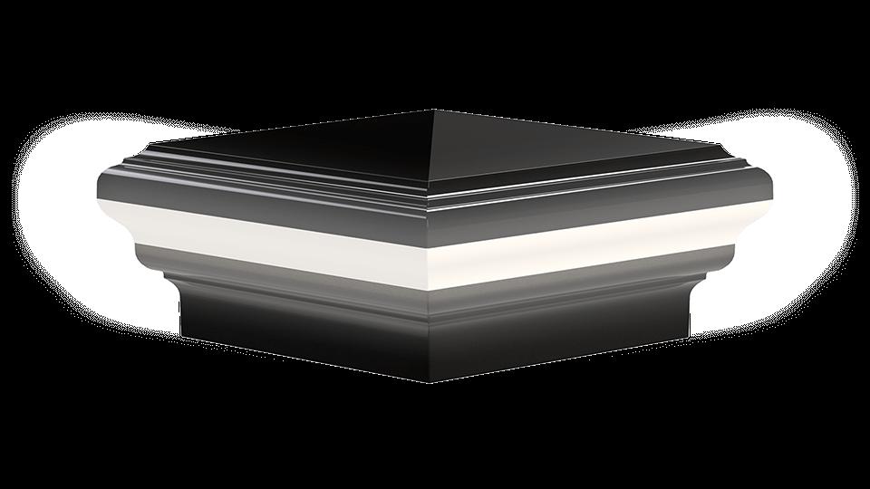 High Quality Pyramid Post Cap Light - Placid Point Lighting - Outdoor LED Lighting